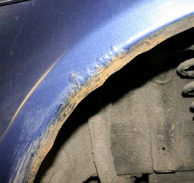 Reparation af rust i dør